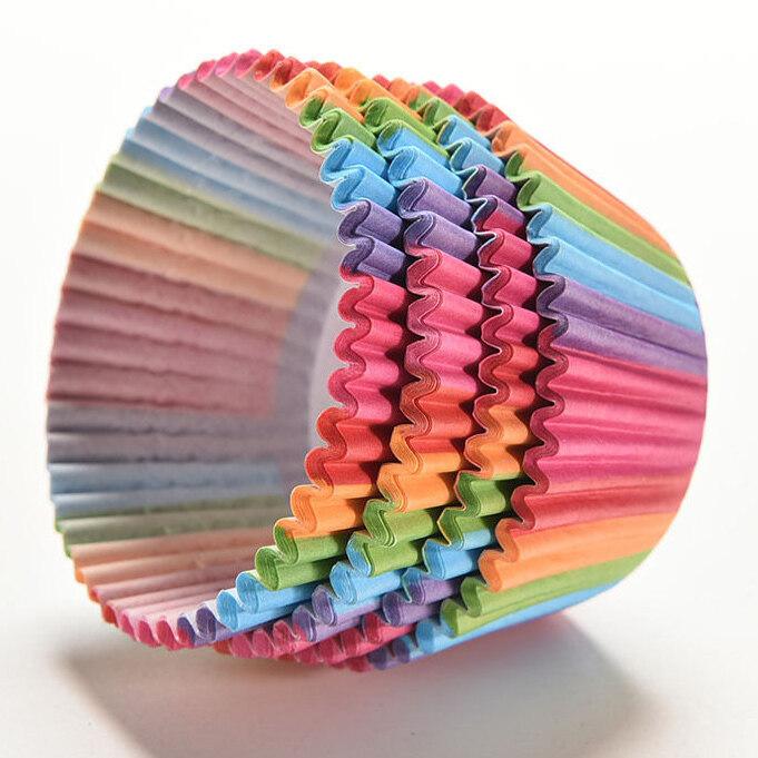 200ชิ้นเค้กถ้วยมัฟฟินแบบกระดาษ (หลายสี) ...