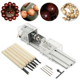 24V 100W Mini Lathe Beads Polisher Machine for Wood Woodworking DIY Rotary Tool - intl