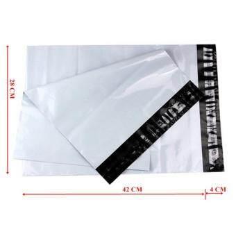 ซองไปรษณีย์พลาสติกสีขาว ขนาด 28x42 cm (1000 ใบ)