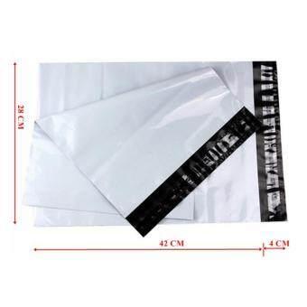 ซองไปรษณีย์พลาสติกสีขาว ขนาด 28x42 cm (500 ใบ)