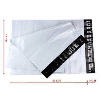 ซองไปรษณีย์พลาสติกสีขาว ขนาด 32x45 cm (100 ใบ)