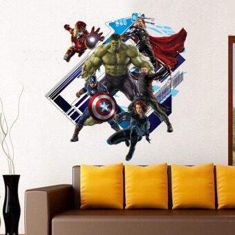 3D Foreign Trade Decoration Glass Hulk Avengers Alliance Wall Stickers (Intl)