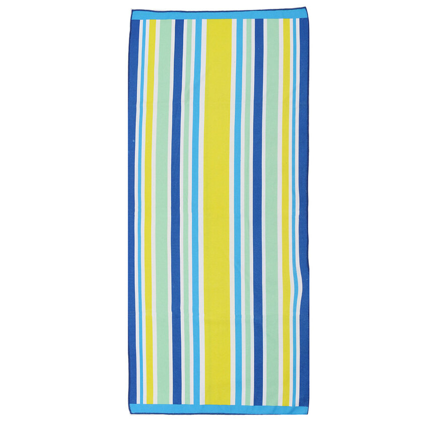 70x150cm Stripes Microfibre Travel Camping Beach Sports Bath Towel Light Weight Blue Gre ...