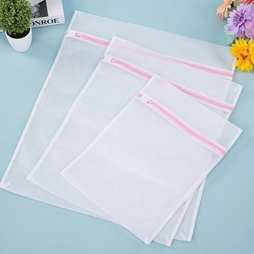 7Pcs/Lot Square Fine Mesh Zippered Washing Bags Thickened Laundry Bag (6 x Size 50 x 60c ...