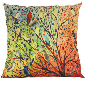 Abstract TreeThrow Pillow Cove (Multicolor)