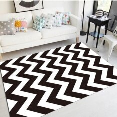 Anti-Slip Nordic Geometric Living Room Floor Mat Carpet Tea Table Mats Large Sofa Rugs Soft Bedside Footcloth Absorbent Bedroom Carpets 60x90cm - Intl ราคา 947 บาท(-23%)