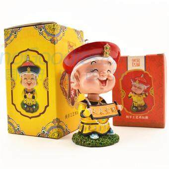 Aooluo China Tourist Souvenir Creative Home Decoration Swing Head of Qing Dynasty Emperor - intl
