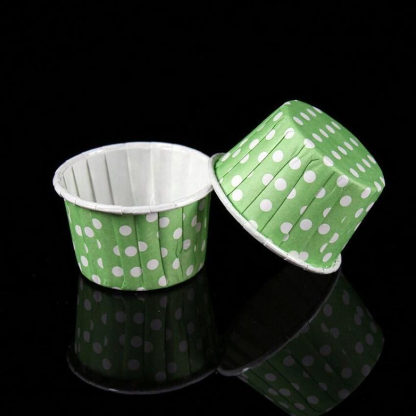 Baking Paper Cupcake Muffin Candy Nut Snack Home Party20pcs Green - intl
