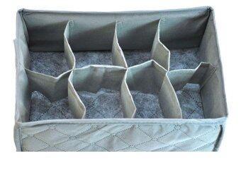 กล่องจัดเก็บถุงเท้า กางเกงชั้นใน เนคไท Bamboo Charcoal fabric storage box(8 cell)