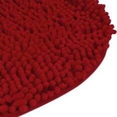 Bedroom Door Mat Heart Shaped Carpet Fluffy Chenille Rug Cushion Red - Intl ราคา 298 บาท(-67%)