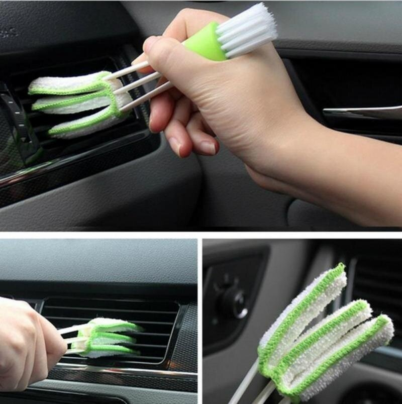 Car Accessories Keyboard Dust Collector Air-condition Cleaner Computer Clean Tools Window Leaves Blinds Cleaner Duster - intl
