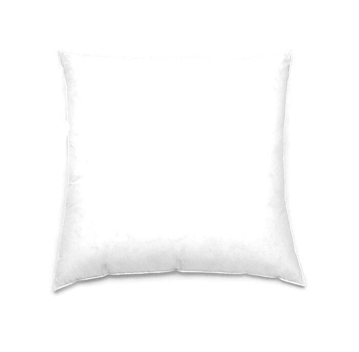 CB Cotton หมอนอิงยูโรขนห่านเทียมกันไรฝุ่นและเชื้อราพร้อมปลอก - สีขาว