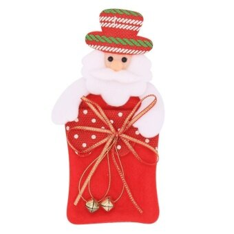 Christmas Decor Supply Gift Tree Pendant Bag Santa Claus(Red) -intl