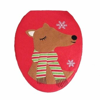 Christmas Decorations Christmas Toilet cover - Elk Style - intl