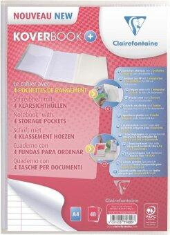 Clairefontaine สมุดโน๊ต รุ่น KOVERBOOK ขนาด 21x29.7 ซ.ม. หน้าปกใส (สามารถใส่กระดาษ A4 และ A3)