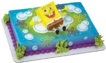 DecoPac SpongeBob SquarePants Lanchers Cake Deco Set - intl