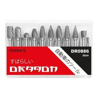 DRAGON ชุดเหล็กเจียรนัย TUNGSTEN CARBIDE แกน 3mm x หัวเจียร 3mm , แกน 3mm x หัวเจียร 6mm 20 ตัวชุด DR0886
