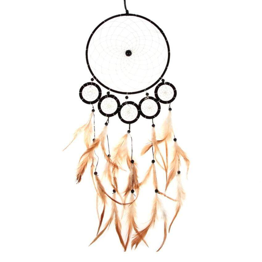 Dream Catcher Wall Hanging Decoration Bead Ornament with Feathers 6 Circles (Intl) ...