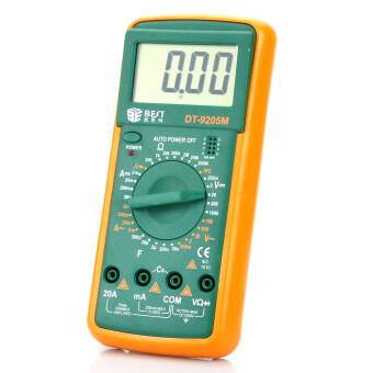 ราคา DT-9205M 2.8นิ้วจอแอลซีดีดิจิตอลมัลติมิเตอร์แบบพกพา-สีเขียว+ส้ม (1 x 9โวลต์/6F22)