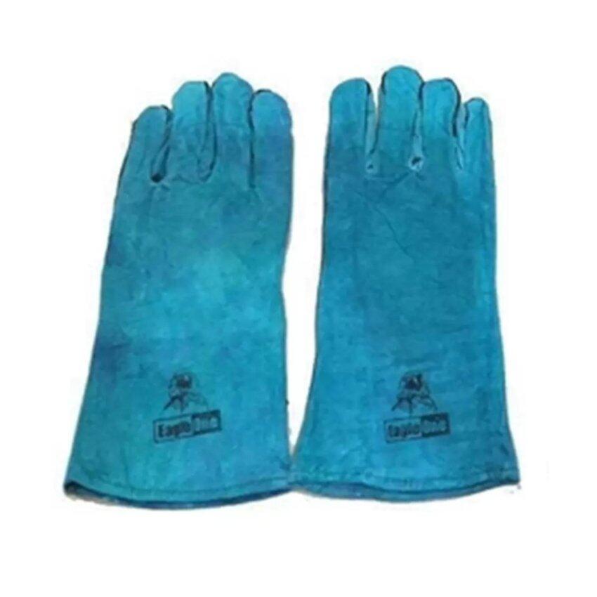 ถุงมือหนัง ถุงมือเชื่อม Eagle One มีซับใน ยาว13นิ้ว ...