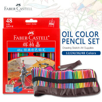 Faber Castell 48 Colors Oil Colored Pencil High Quality Germany Imported Set For Art School Student Sketch Painting Pen Supplies - intl