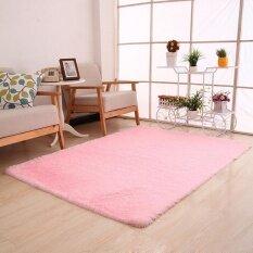 Fluffy Rugs Anti-Skid Shaggy Area Rug Dining Room Bedroom Carpet Floor Mat Pk - Intl ราคา 547 บาท(-67%)