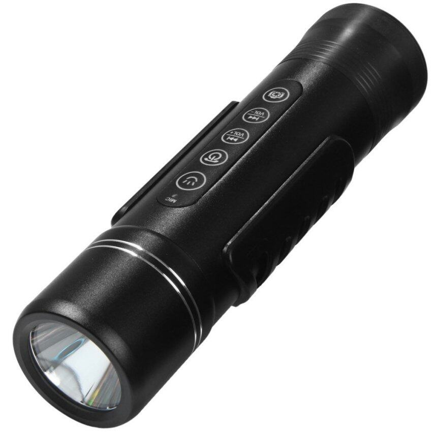 Freeman X6S Bluetooth V2.1+EDR Speaker Cree XPE-R3 LED Torch 5 Modes 350LM Flashlight for Outdoor Cycling (BLACK)