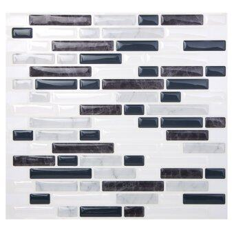 Hanhwa L&C Bodaq D.I.Y Tile Sheet BRW04 Random Brick Style Pack of 5 (Black and White) - Intl