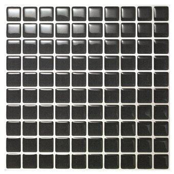 Hanhwa L&C Bodaq D.I.Y Tile Sheet SQP02 Square Style Pack of 5 (Pearl Black) - Intl