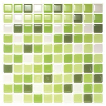 Hanhwa L&C Bodaq D.I.Y Tile Sheet SQW08 Square Style Pack of 10 (Lime Green) - Intl
