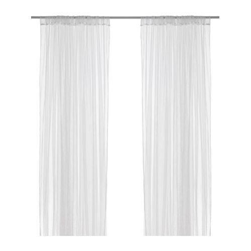 Happy Decor ผ้าม่านโปร่ง 1 คู่ 280x250cm (ขาว)