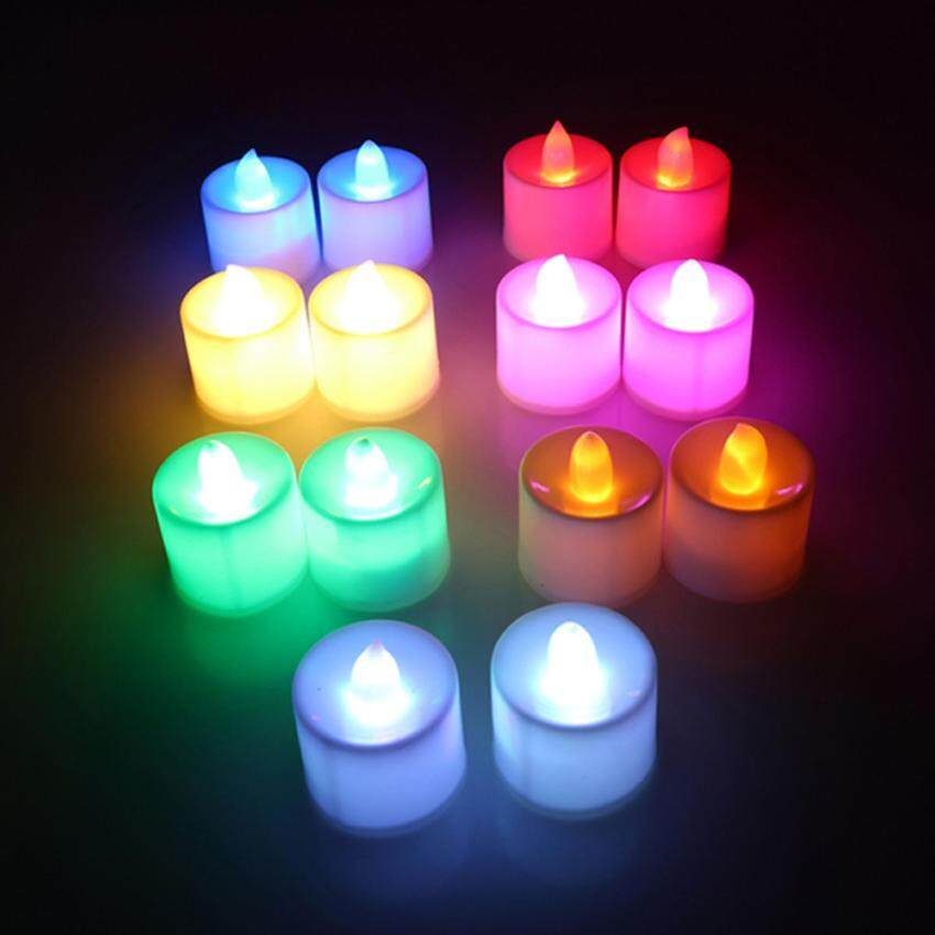 HengSong 2Pcs LED Electronic Battery-powered Flameless Tealight Birthday Confession Crea .