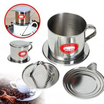 Imixlot Stainless Steel Metal Vietnamese Coffee Drip Cup FilterMaker Strainer (Silver) - intl