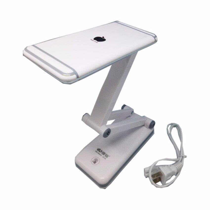 โคมไฟพับได้ KM-6682C LED 28ดวง แสงไฟสีขาว ปรับระดับความสว่างได้ด้วยปลายนิ้วสัมผัส ...