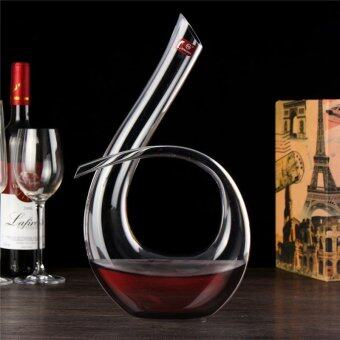 Luxurious Crystal Glass 6 Shape Wine Decanter Wine Pourer Red Wine Carafe 1200ml - intl