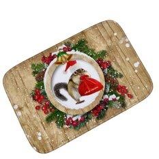 Merry Christmas 3d Printed Kitchen Mat Soft Flannel Floor Matcarpet Anti-Slip Absorbent Bathroom Mats Entrance Doormat Softfootcloth 60*90cm - Intl ราคา 864 บาท(-23%)