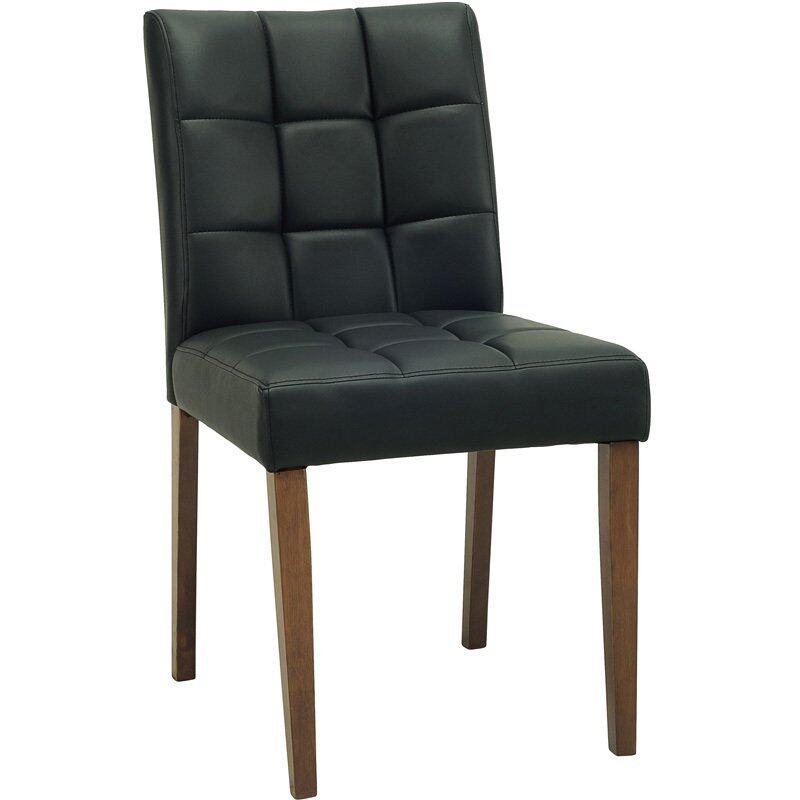 Mood & Tone เก้าอี้ทานอาหาร Portland (เบาะหนังเทียมสีดำ)