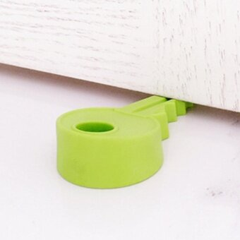 Moonar Silicone Key Style Safety Door Stopper Home Door DecorationDoor Stop Wedge - intl