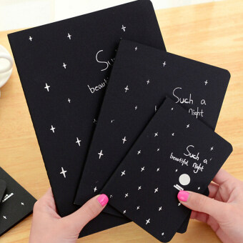 Notebook Diary Black Paper Notepad Sketch Graffiti Notebook Fordrawing 32K - intl