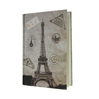 Notebook Gift Book Travel Diary Journal Hard Cover 144 Pages-Eiffel Tower - intl