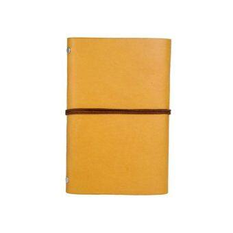 Notebook with Leaf Shape Strap (Yellow)