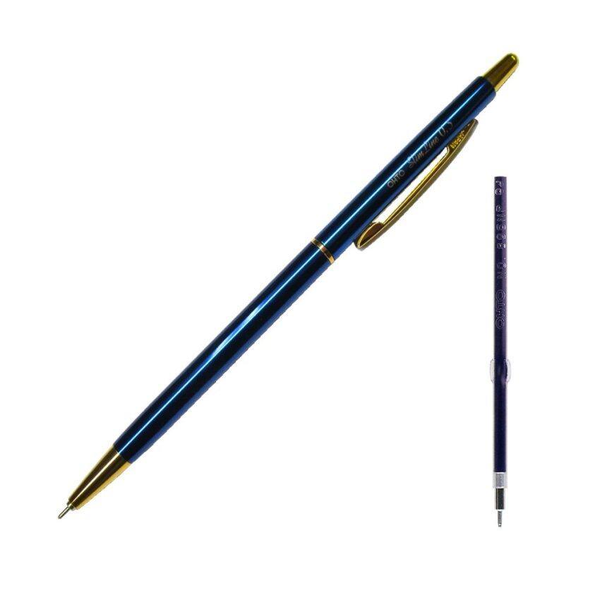 ขาย OHTO Pen JAPAN ปากกาลูกลื่น Slim Line NBP-5B5 0.5 (Dark Blue) + ไส้ปากกาลูกลื่น 0.5 (Blue) 1 ชิ้น