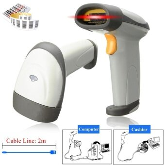 Portable USB Laser Barcode Scanner Handheld Bar Code Reader Long Scan POS PC UK - intl
