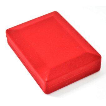กล่องใส่เครื่องประดับ ใส่สร้อยคอ ใส่จี้ ใส่เครื่องราง หน้าทึบ ขนาดใหญ่ สีแดง