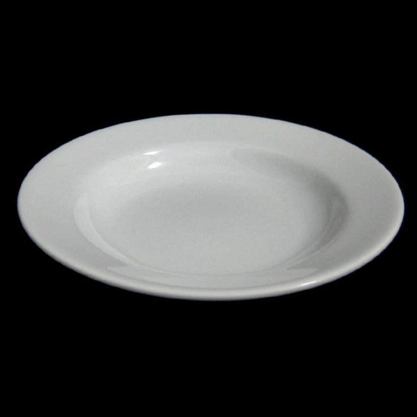 Royal porcelain จานพอร์ซเลนกระเบื้องลึก 9 นิ้ว(23ซม)-สีขาว ...