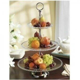 Shannon by Godinger Chesterfield Three Tiered Crystal Server - intl