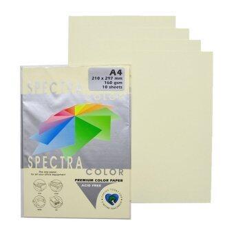 กระดาษ สี สเปคตรา Spectra Color Paper A4 160g. (10 แผ่น) 12 ชุด - Ivory