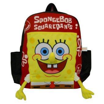 กระเป๋าเป้ Spongebob Squarepants - สีแดง 14 x 13 นิ้ว