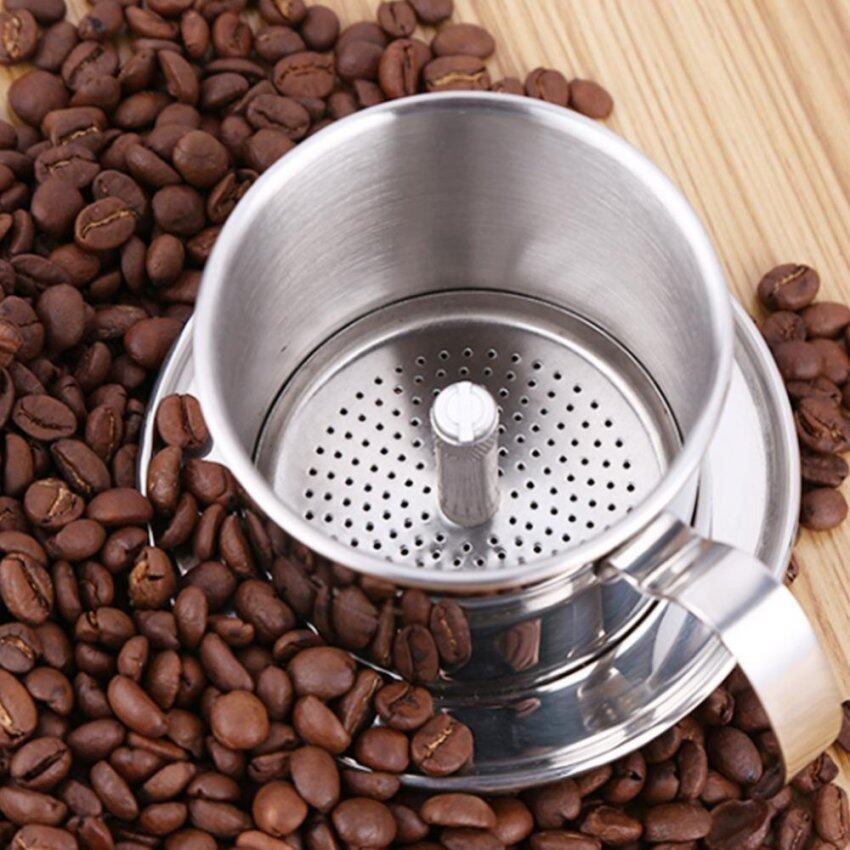 Stainless Steel Cafe Latte Filter Cup Coffee Dripper Espresso Coffee Drip Maker Silver Color - intl