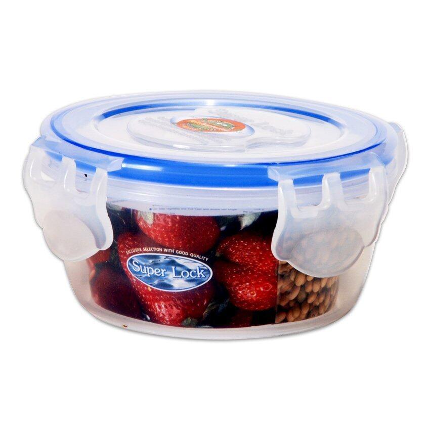 กล่องอาหารทรงกลม Super Lock - 11 x 5.5 cm. 260 ml.